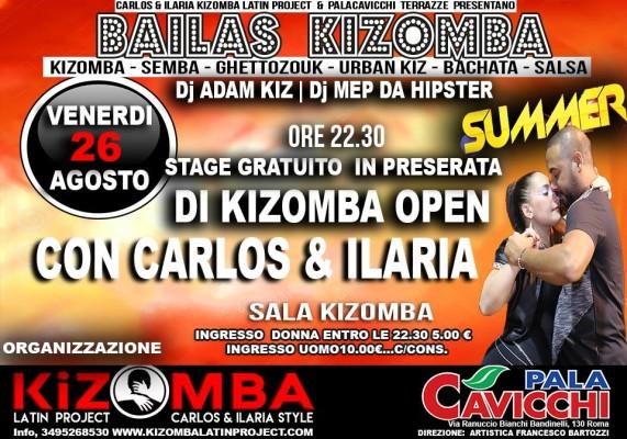 Bailas Kizomba - Venerdì 26 agosto 2016 - Le Terrazze Palacavicchi