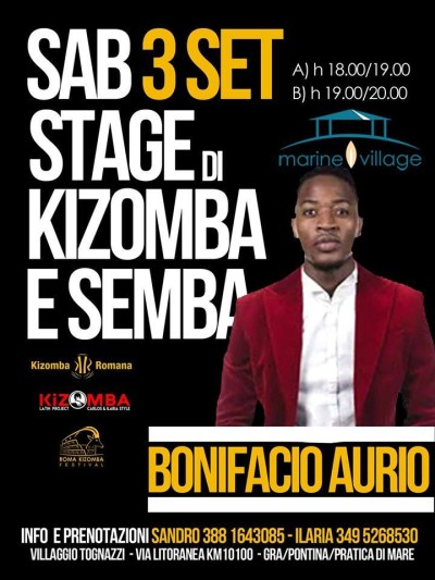 Kizomba on The Beach - Sabato 3 Settmbre - La Terrazza - Marine Village